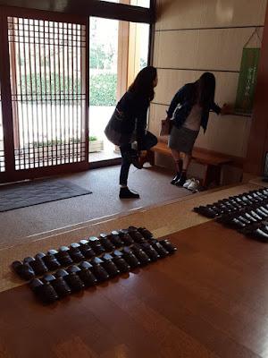 Lobby at Hanayashiki Ukifuneen Uji Kyoto Japan