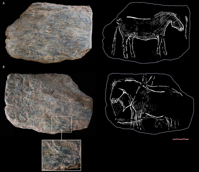 14,000 year old engraved 'tablets' discovered in France
