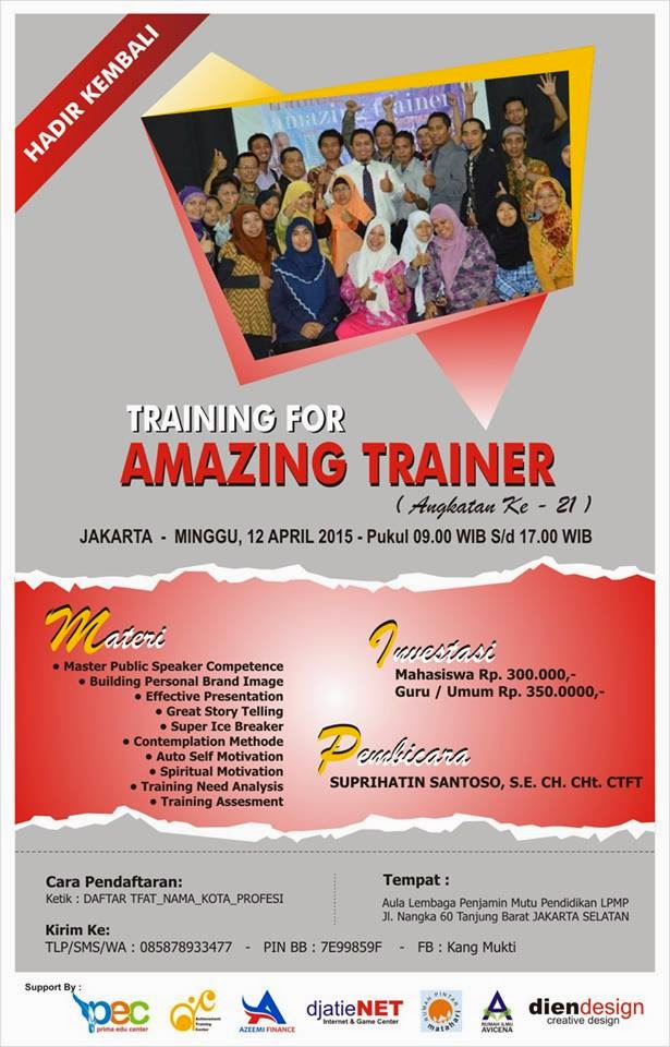 TRAINING FOR AMAZING TRAINER [TFAT] Angkatan Ke-21