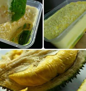 Resepi Kek Durian Cheese Leleh