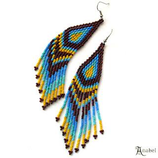 Яркие серьги из бисера купить бисерные сережки длинные серьги с бахромой