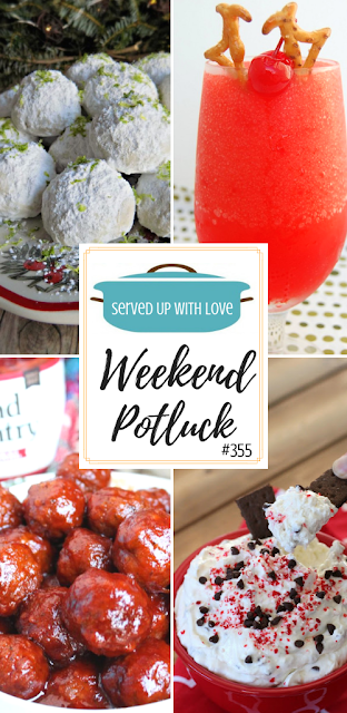 Weekend Potluck recipe favorites include Key Lime Snowball Cookies, Naughty Rudolph Cocktail Drink, Slow Cooker Party Meatballs, Peppermint Mocha Cheesecake Dip, and so much more.