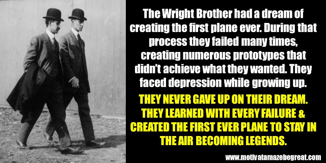 63 Successful People Who Failed: The Wright Brothers, Success story, first plane ever, prototypes failures, depression growing up, first ever plane to say in the air, legends