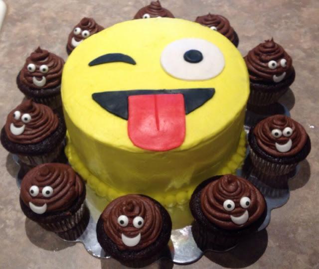 Bầy Cứt con vây quanh chúc mừng sinh nhật icon mặt cười