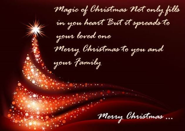 Merry Christmas to you and your family Quotes Pictures