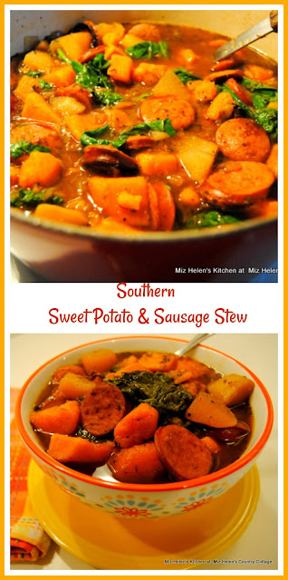 Southern Sweet Potato & Sausage Stew at Miz Helen's Country Cottage