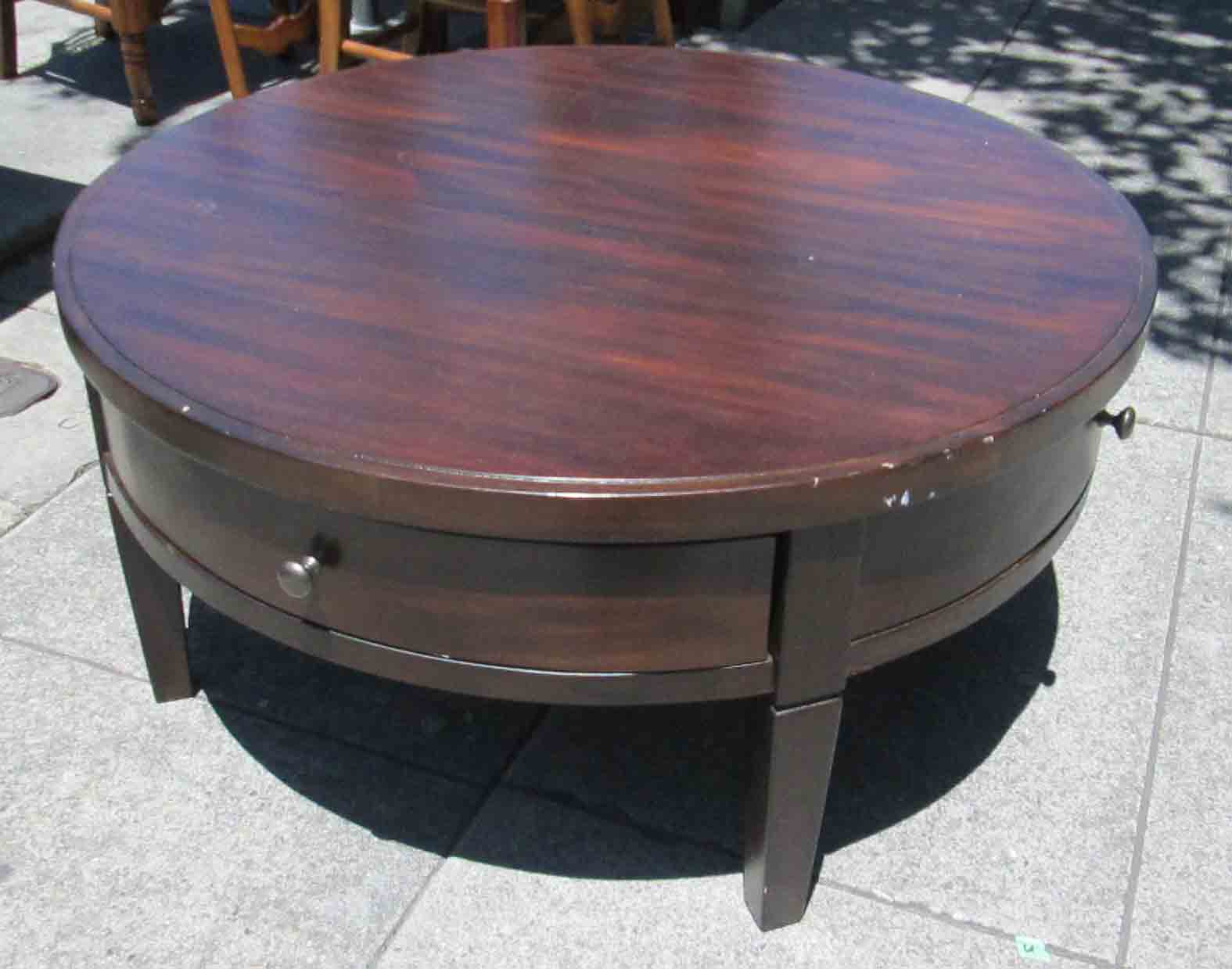 Round Coffee Table With Drawers Uhuru Furniture And Collectibles Sold Round Coffee Table
