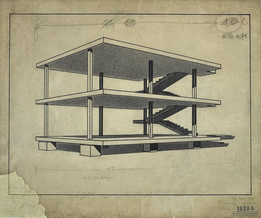 Artplastoc 276 le corbusier 1887 1965 architecte et for Maison sans mur porteur