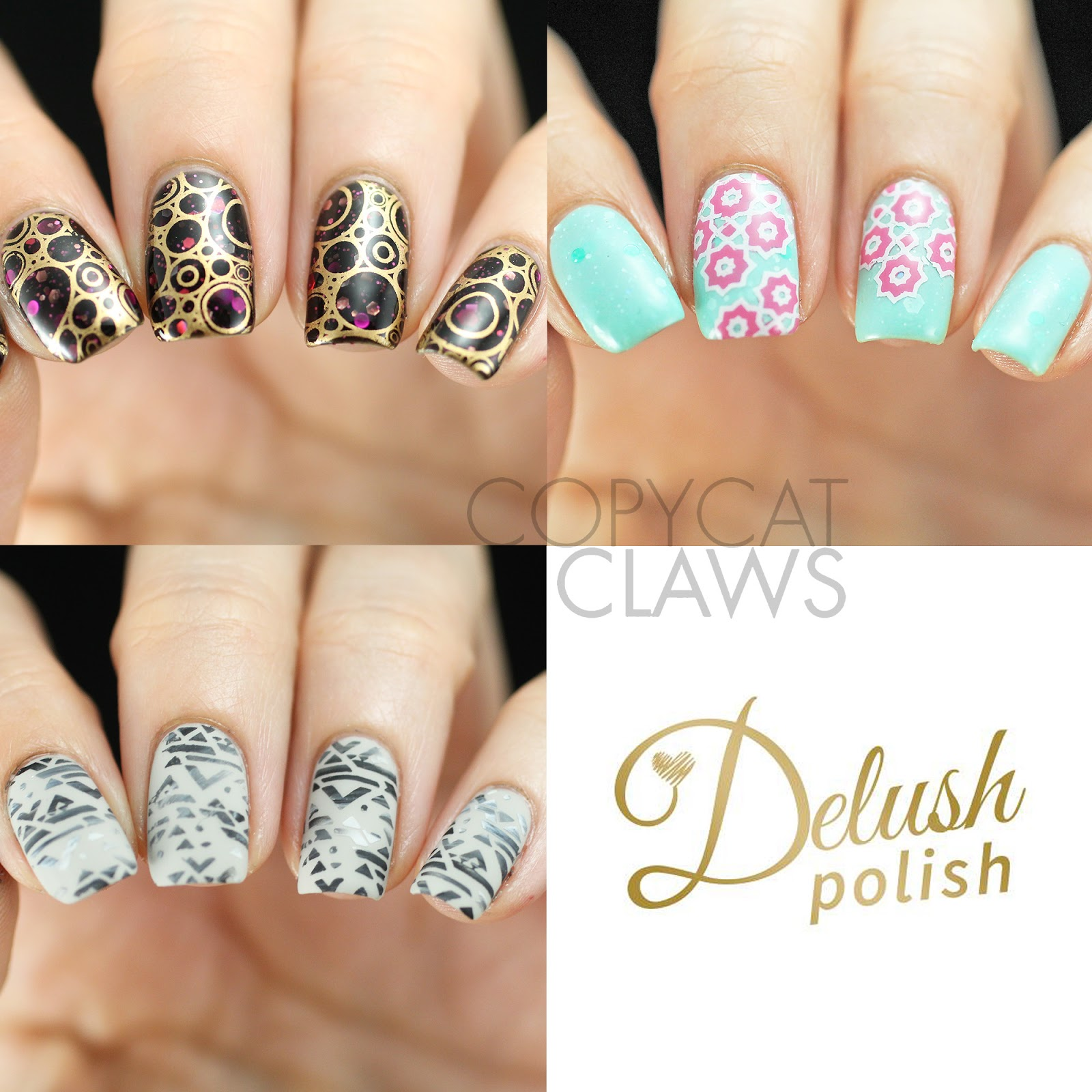 Copycat Claws: Delush Polish DP02 Dazed & Enthused Stamping Plate Review