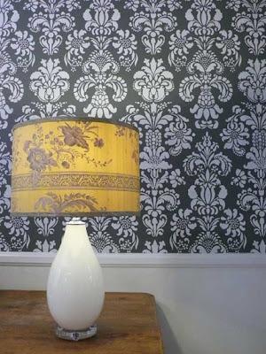 menghias dinding dengan wall damask stencils (part 2
