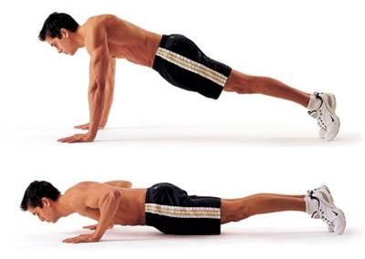 Flexiones de brazo en decúbito prono