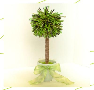 DIY ปอมปอมต้นไม้ประดิษฐ์