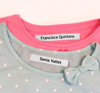 Etiquetas termoadhesivas para ropa de niños
