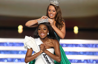 The 24-year-old black beauty won the Miss America championship.