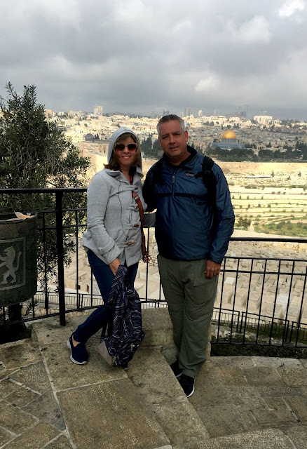 Debbie and Eric at the Mount of Olives in Israel