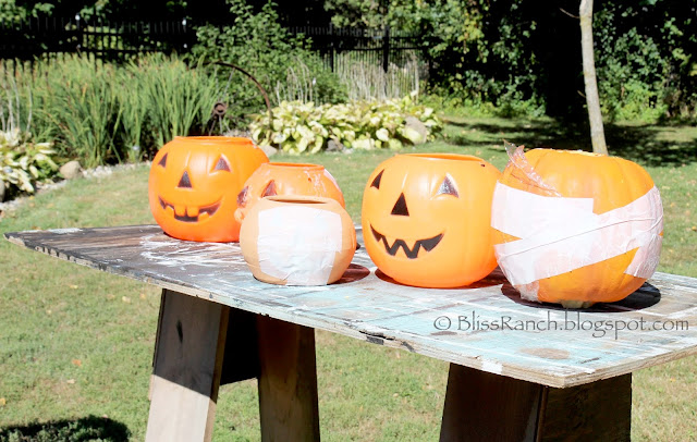 Quick Set Concrete Pumpkins Bliss-Ranch.com