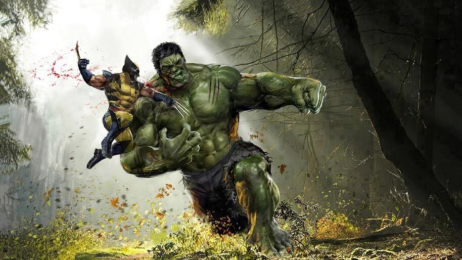 Wolverine vs. Hulk, Marvel, Comics, 4K, #6.1952