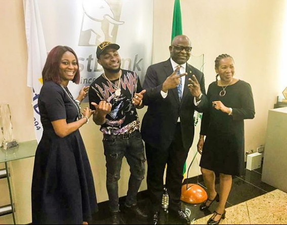 image results for davido and first bank