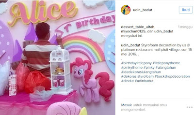 tema little pony for birthday