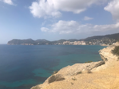 bright blue sky and sea in mallorca