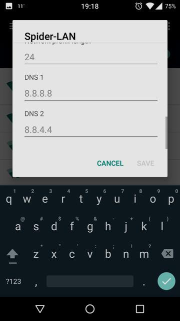 كيفية استخدام جوجل DNS على هواتف الاندرويد