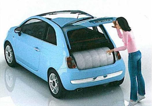 Facil transporte del colchón enrollado