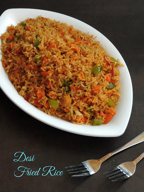 Desi fried rice, tawa fried rice