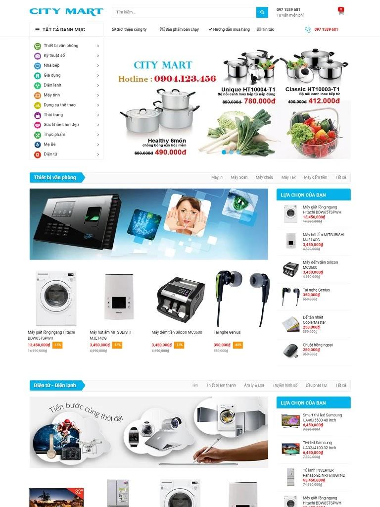 Template blogspot bán hàng điện máy City Mart