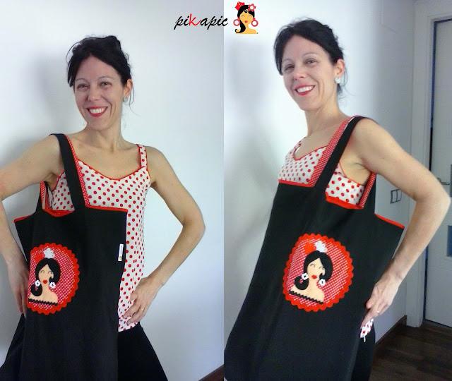 Marta con su bolso para clases de baile Pikapic
