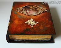 pudełko książka decoupage