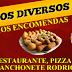 Faça sua encomenda de salgados no Restaurante, Pizzaria e Lanchonete Rodrigues