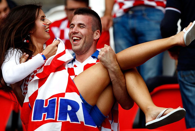 Croatia Female Fans Euro 2016