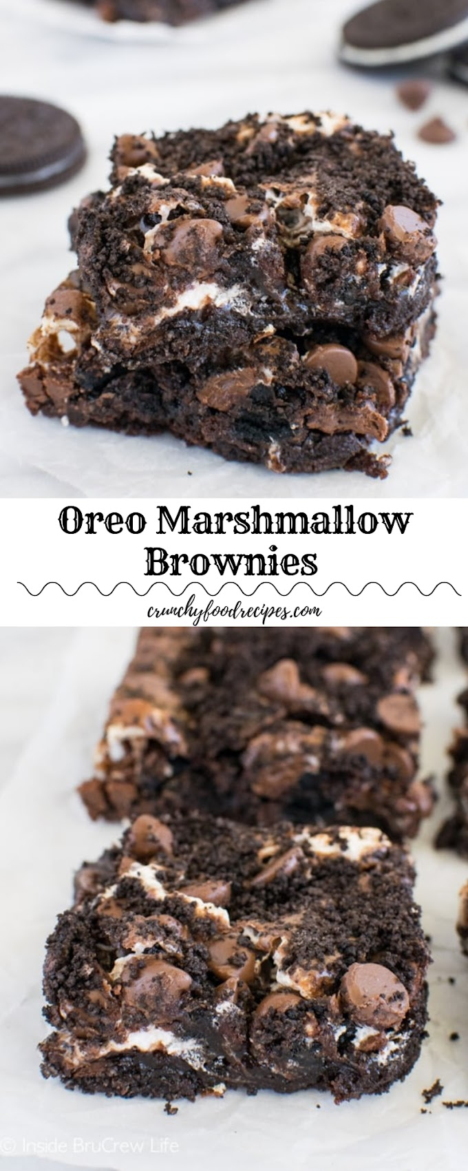 Oreo Marshmallow Brownies #christmas #dessert