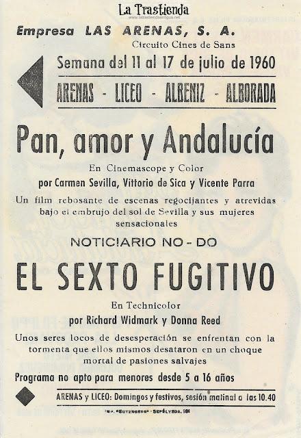 Pan, Amor y Andalucia  - Programa de Cine - Carmen Sevilla - Vittorio de Sica