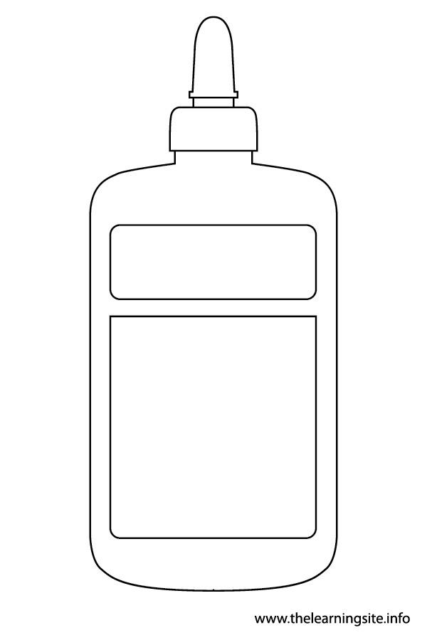 glue bottle coloring pages | ภาพชุดอุปกรณ์เครื่องเขียนไว้สำหรับให้น้องฝึกระบายสี ...