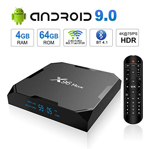 X96 Max Quad Core Android 8.1 TV Box DDR4 4G 32G 64G Set top box 4K H.265 1000M