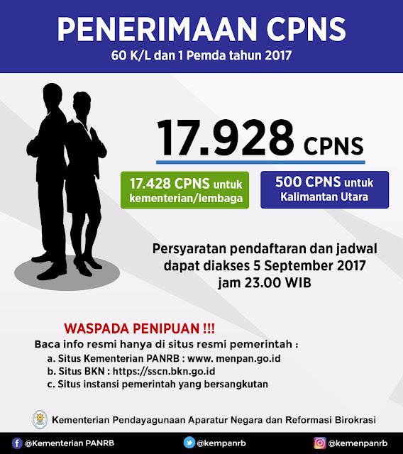 Pemerintah Buka 17.928 Lowongan CPNS, Ini Daftar Lengkapnya