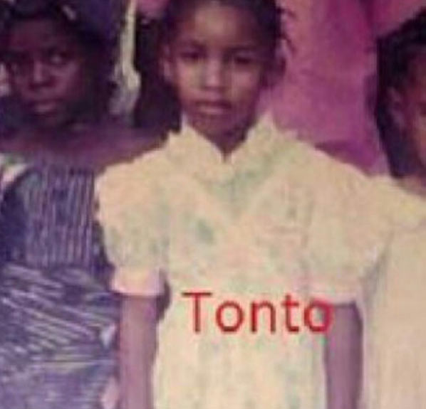 Hehe. See what Tonto Dikeh looked like during her adolescent years