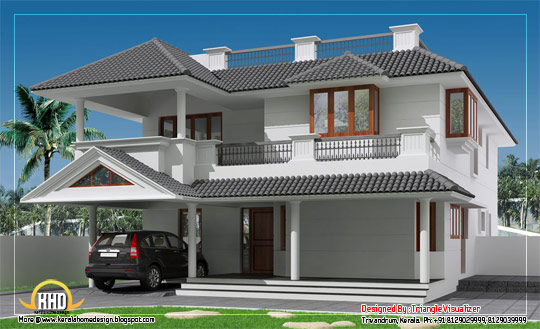 Sloping Roof house with Cellar Floor  - 309 Sq M (3325 Sq. Ft) - February 2012