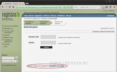 Como registrar um dominio