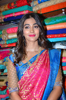 Puja Hegde looks stunning in Red saree at launch of Anutex shopping mall ~ Celebrities Galleries 080.JPG