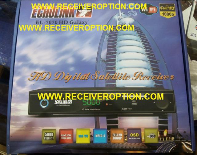 ECHOLINK EL-7070 HD GALAXY RECEIVER AUTO ROLL POWERVU KEY SOFTWARE