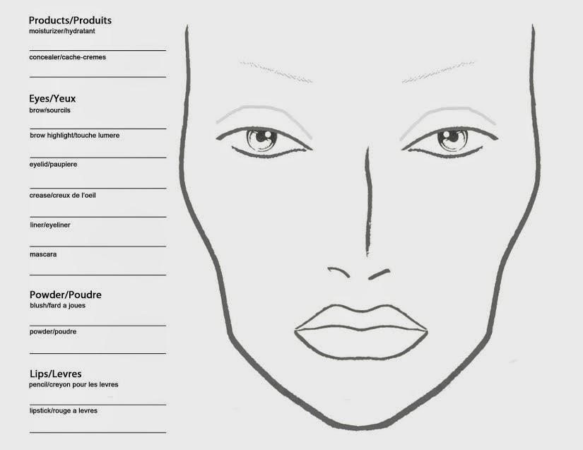 photo regarding Printable Mac Face Charts called Mac Experience Template. macfacecharts com. mac facial area template excellent