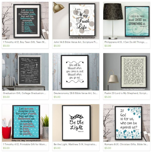 bible verse art scripture prints printable signs