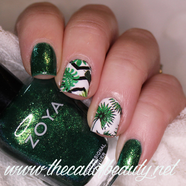 Jungle Green Nail Art