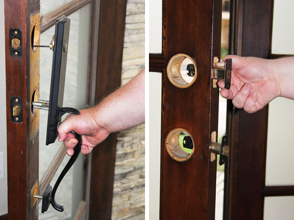 Uninstalling a deadbolt and handleset