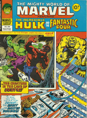 Mighty World of Marvel #299, the Hulk and the Fantastic Four