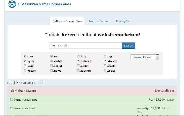 ganti domain blog, cara membeli domain di rumahweb, cara memesan domain rumahweb, beli domain, domain blog