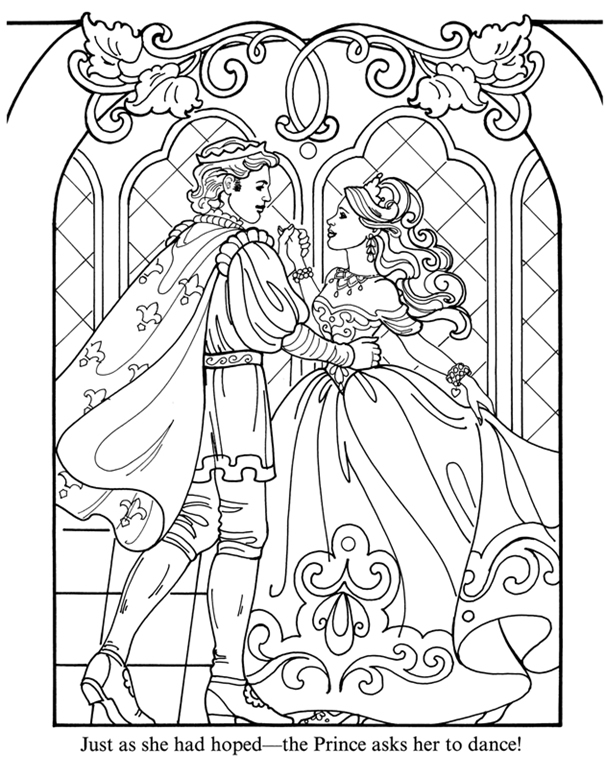 coloring pages of a princess | inkspired musings: M'Lady Faire and her Castle