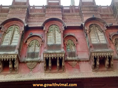 Rampuria haveli, Bikaner windows